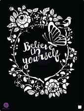 Prima Marketing 8 x 10 stencil, Believe #587185