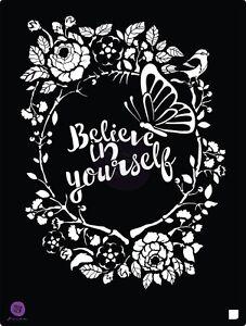 Prima Marketing 8 x 10 stencil, Believe #587185
