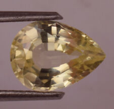 3.50 Ct Certified Natural Ceylon Yellow Sapphire Pear Cut Loose Gemstone