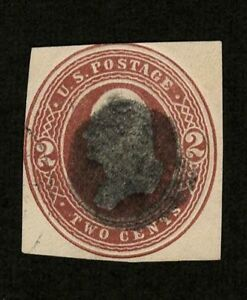 US 1884 #U277 - 2c Brown Washington Early Cut Square SON Cork Fancy Cancel