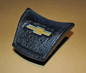 1969-1972 Chevy K5 Pickup Truck Steering Wheel Horn Button Cap Cover OEM Black