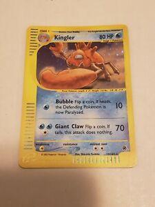 Kingler Holo Expedition 15/165 Rare Never Played NM- Mint E-reader Pokemon