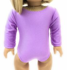 Doll Clothes fits 18 inch American Girl - Lavender Leotard Gymnastics Sports