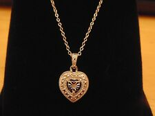 """Solid Sterling Silver Diamond Set Heart Pendant & 19"""" Chain Necklace BNIB NEW"""