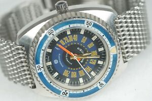 AQUADIVE MODEL 50 Time Depth Vintage Swiss Dive Watch Needs Serviced