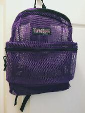 "17 "" Transport Mesh Book Bag School Backpack-Purple Color By Transworld"