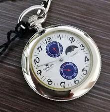 Pryngeps reloj de bolsillo de cuarzo De Acero + Cadena + Grabado