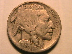 1923-S Buffalo Nickel Fine Obv with usual weak reverse Indian Head 5 Cents Coin