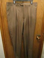 MENS CINTAS KHAKI PLEATED DRESS PANTS SIZE 38X30