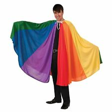 Rainbow Cape Cloak Gay Pride Fancy Dress Party Adult Carnival Joseph Parade BN