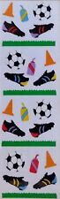 10 Strips Mrs Grossman`s Soccer Gear Discontinued Stickers Shoes Grass cone