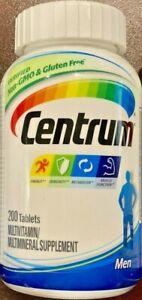 Centrum Men Multivitamin Mulitmineral Supplement Adult 200 Tablets NEW Exp 03/21