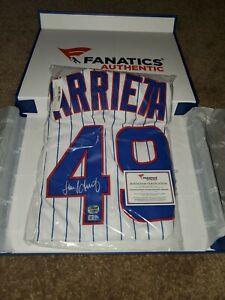 Jake Arrieta Signed Cubs Jersey Mounted Memories