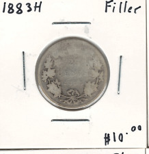 Canada 1883H Silver 25 Cents Filler