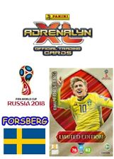 Panini World Cup Emil FORSBERG Limited edition Russia 2018 Adrenalyn xl Sweden