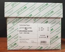 8.5 x 11 3 Part GiroForm Carbonless Paper Reverse 1,670 Sets 5010 Sheets
