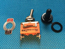 TOGGLE SWITCH WATERPROOF CAP 12mm OFF / ON AC / DC 15A @ 250V MOTOR  / MACHINERY