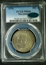 1934 U.S. Maryland Commemorative SILVER Half $ - MS66 (PCGS, CAC) stk#4363
