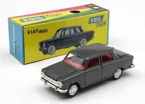 Edil Toys Fiat 1500 grigio scuro scala 1/43 Italy anni 60 scatola replica