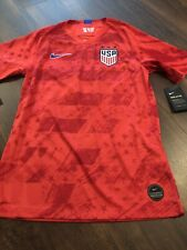 New Nike Team USA Mens Soccer Breathe Jersey Size Small Red Blue