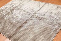 "5'3"" x 7'7"" Handmade Graphic 100% Bamboo silk Flatweave Area Rug Modern"