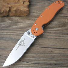ontario model rat 1 orange g10 handle pocket knife withe blade rescue knife gift