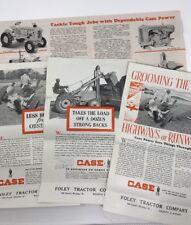4 Vintage Case Tractor Advertising Brochures Flyer Letter Caterpillar 1940s