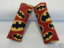Seat Belt Covers Child Car Seat Pram Highchair Stroller Batman Symbol on Red