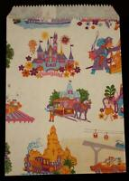 Disneyland Souvenir Shopping Bag Paper Receipt 1986 Walt Disney Prod