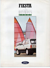 VERY RARE FORD FIESTA OLYMPUS SPORT SPECIAL EDITION BROCHURE 1988 & PRICE LIST