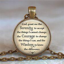 Serenity Prayer necklace pendant inspirational jewelry inspirational,bronze