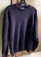 Van Heusen Crew Neck Long Sleeve Sweater Men's Used Excellent Condition Size L
