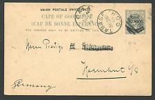 """CAPE OF GOOD HOPE: (14957) TABASE """"916"""" numeral cancel/card"""