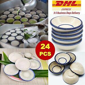 24 x Mini Bowl Ceramic Cup Thai Dessert Mold Steam Coconut Milk Multi-Purpose