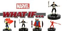 Heroclix Marvel What If? #016 & 003 PUNISHER, 004 DD, 005 THOR, 009 DR. STARK