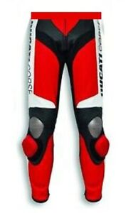 Motorcycle ducati Leather Racing Pants-Motorbike Riding Trouser Motogp