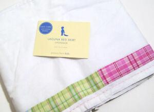Pottery Barn Kids Toddler Laguna Plaid Baby Crib Bed Skirt Dust Ruffle New