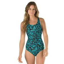 Womens SPEEDO Endurance Lite Muscleback Swimsuit Size 6 Hydro Bra Fitness Teal