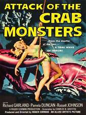 ADVERT MOVIE FILM ATTACK CRAB MONSTERS CULT CLASSIC USA POSTER ART PRINT BB4652A