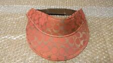FAUX DESIGNER INSPIRED RED WITH GOLD SIGNATURE C SUN VISOR