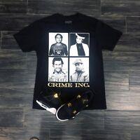 Effectus Clothing Tee to Match Gold Royalty Jordan Retro 4- Crime INC Tee