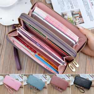 Women Fashion Leather Wallet Long  Purse Card Phone Holder Case Clutch Handbag