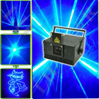 1000mw Blue American ILDA+SD card DJ Club Laser Party stage light 1W Beam Show