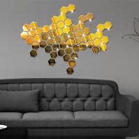 1 Pcs Acrylic Wall Sticker 3D Creative Unique Mirrored DIY Clean Home Decor