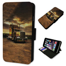 American Truck Lorry - Flip Phone Case Wallet Cover Fits Iphone 5 6 7 8 X 11