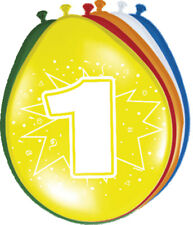 Ballon bunt Luftballons Zahl 1 Geburtstag 8 St. Deko Ballons Party