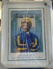 WILLIE BILL SHOEMAKER Signed 1990 The Legend's Last Ride Framed Lithograph #/270
