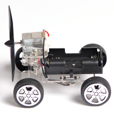 Mini DIY Wind Powered Robot Toy Car Kit 130 Brush Educational Gadget Hobby Gift