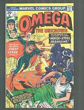 Omega The Unknown #1 ~M.Skrenes & S.Gerber Story / Jim Mooney art~ 1976 (8.0) WH