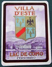 Villa D'Este - Lake Como Italy - vintage Luggage Label